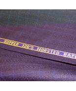 Blue Super 120'S wool suit fabric  9 yard  msrp 1695 - $146.51