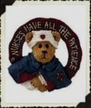 "Boyds Bearwear ""Florence Gentlecare..Touching Live"" Resin Pin #26065-New-Retired - $9.99"