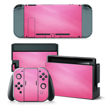 For Nintendo Switch Console Skin & Joy-Con Controller Hot Pink Vinyl Decal  - $11.85