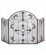 Fireplace Screen Wrought Iron Tri-fold  Italian... - $45.89