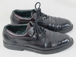 Dexter Black & Dark Cordovan Leather Oxford Shoes Size 8.5 D US EUC - $21.66