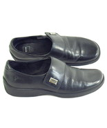 Ecco Black Leather Loafer Shoes Mens 6.5 D US Excellent Condition Indonesia - $21.66