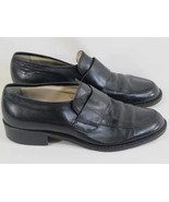 SIMARD Black Leather Loafers Mens Shoes Size 6 D US EUR 39 Vintage Italy - $19.68