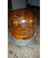starlite 400a amber magnet Rotating Revolving 12v 2 Beam Warning Beacon ... - $58.41