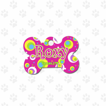 Blooms ID bone tag, customized cute pets ID gifts, one side printed tags - $8.99