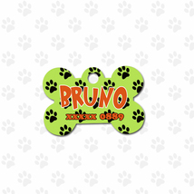 Paws print Cute Pets Accessory, dog monogrammed tag, unisex gift - $8.99
