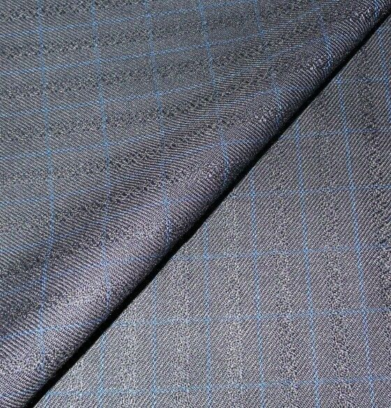 Blue Super 120'S wool suit fabric  9 yard  msrp 1695