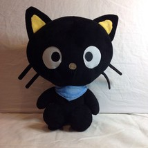 "Chococat 15.5"" 2012 Plush Stuffed Animal Blue Scarf Big Eyes Sanrio Co Fiesta  - $24.26"