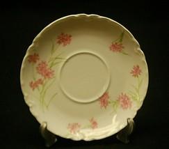 """Antique Haviland Limoges France 5-3/8"""" Saucer Plate Pink Cornflower Scal... - $8.90"""