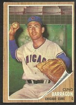 1962 Topps Baseball Card # 66 Chicago Cubs Cuno Barragon vg - $1.75