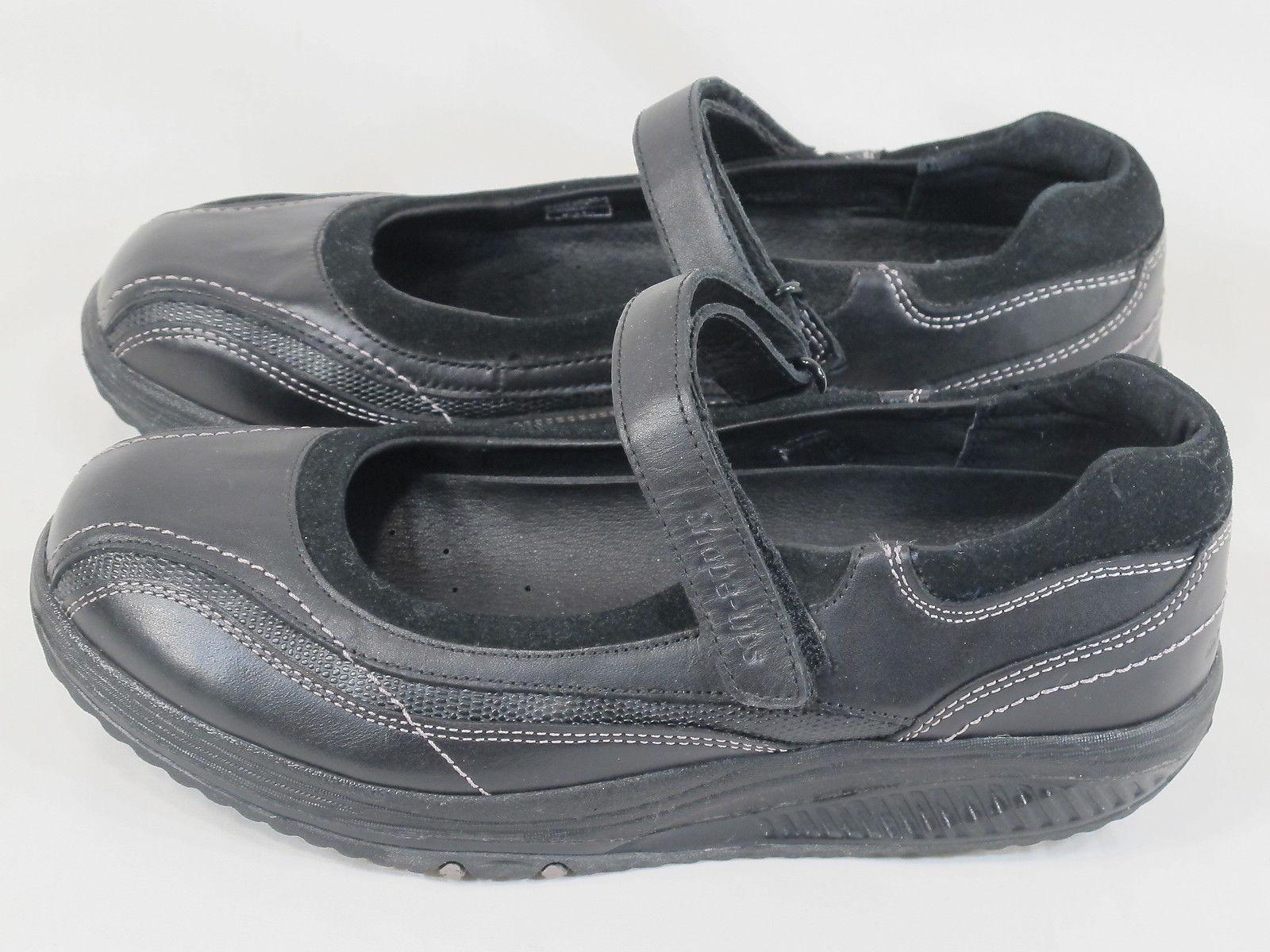 Skechers Black Leather Shape Ups Velcro Mary and 50 similar