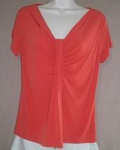 Womens George Orange Stretch Blouse, Top, Size ... - $6.99