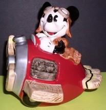 DISNEY Mickey Airplane Pilot  Music Box made of Porcelain MIB - $99.99