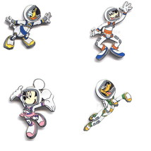 Disney Goofy Donald Mickey Minnie Astronaut set 4 pins - $75.00