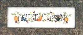 Simply Autumn fall cross stitch chart Waxing Moon Designs - $8.00