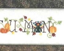 Simply Autumn fall cross stitch chart Waxing Moon Designs