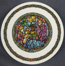 In the Manger Collector Plate Andre Restieau Stained Glass Christmas - $19.95