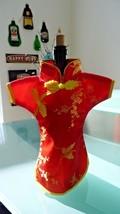 Handmade Jacquard Asian Dress - Geisha Style Wine Bottle Cover - Red & Y... - $173,27 MXN