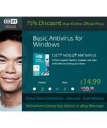 NOD32 ESET AntiVirus 2018, 3PCs/1Y- Windows & Mac - Nepal's License Key ... - $19.19 CAD