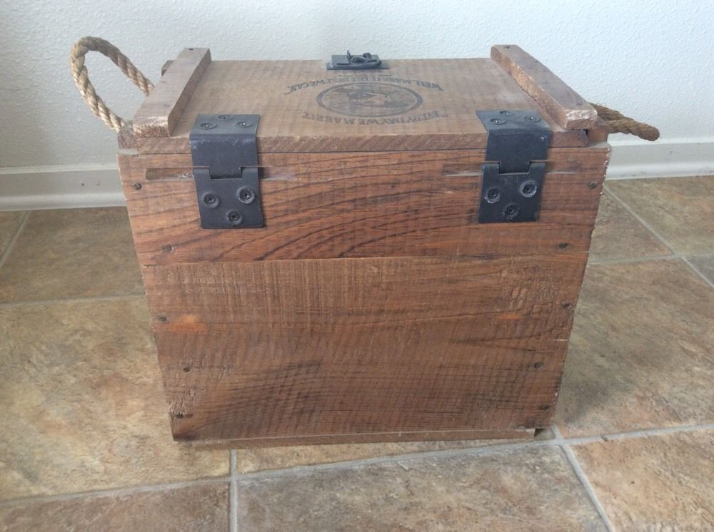 Vintage jack daniels no wood crate box with rope