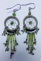 "Native American Beaded DreamCatcher Earrings 2""... - $39.99"