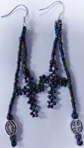 "Native American Beaded Cross  Earrings 3"" Dangl... - $39.99"