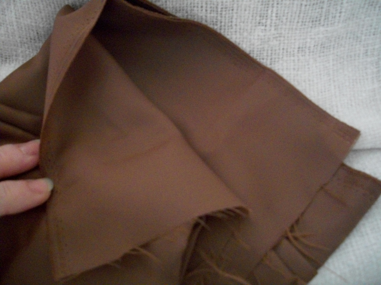 Brown Silk Fabric Remnant