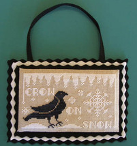 Crow On Snow cross stitch chart Misty Hill Studio - $7.20