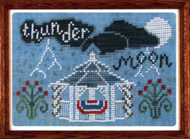 Thunder Moon cross stitch chart Misty Hill Studio - $7.20