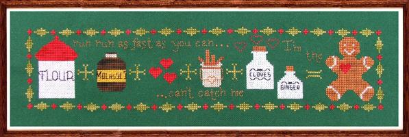 Sweet Addition gingerbread christmas cross stitch chart Misty Hill Studio - $10.80