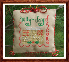 Holly-Day Dreams christmas holiday cross stitch chart Misty Hill Studio - $5.40