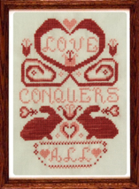 Love Conquers All cross stitch chart Misty Hill Studio - $7.20