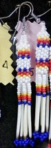 Native American Beaded Porcupine Quill Earrings... - $29.99