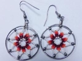 Native American Beaded Dream Catcher Earrings 1... - $29.99