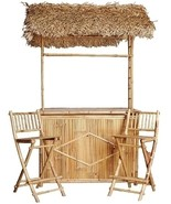 Bamboo Bar Set-  3 Piece Indoor/Outdoor Tiki Bar  - $775.00