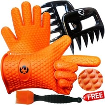 3 x No.1 Set: The No.1 Silicone BBQ /Cooking Gloves Plus The No.1 Meat ... - $26.72