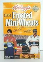 Jeff Gordon & Dale Earnhardt Kellogg's Bite Size Frosted Mini-Wheats Box... - $17.41