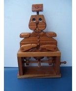 VINTAGE HANDMADE WOODEN ACTION FIGURINE GENERAL READS FROM THE LITTLE BO... - $25.99