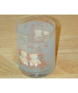 "Teddy Bear ""Friends"" kitchen decor frosted glass MINT - $15.83"