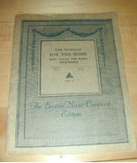 Vintage 1914~FOR THE HOME~Easy Pieces for Piano 4-Hands - $19.76