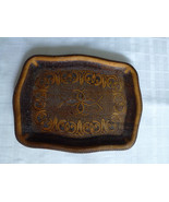Albanian vintage traditional decorative wood tray carved handmade - $54.45