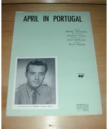 April in Portugal by Vic Damone sheet music-1947 - $19.76