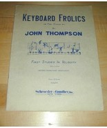Keyboard Frolics for PIANO~First Studies in Velocity'26 - $19.76