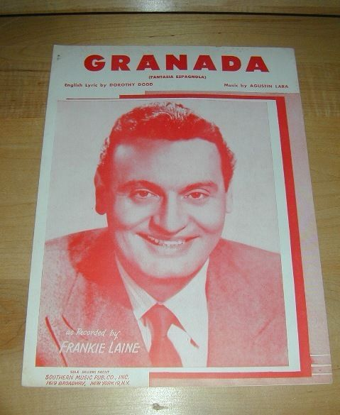 Granada (Frankie Laine); piano sheet music 1932