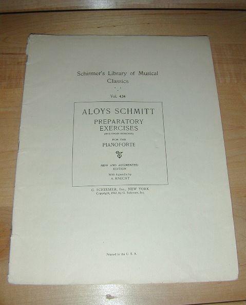 Schirmer's MUSICAL classics PREPARATORY Excercises 1922