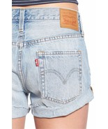 LEVI'S SHORTS 501 Customized Cut Off Exposed Fly Distressed Rolled Jean ... - $40.03