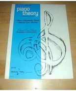 Level 1 Piano Theory; A Programmed Text -Piano Library - $19.76