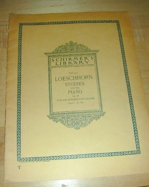 OLD~Schirmers Library 1895 LOESCHHORN STUDIES for PIANO