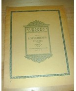OLD~Schirmers Library 1895 LOESCHHORN STUDIES for PIANO - $29.66