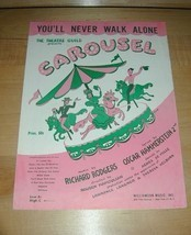 You'll Never Walk Alone-CAROUSEL Sheet Music~Rodgers & Hammerstein - $19.76